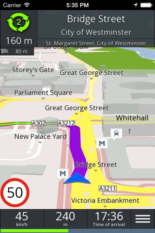 GPS navigation BE-ON-ROAD screenshot 1