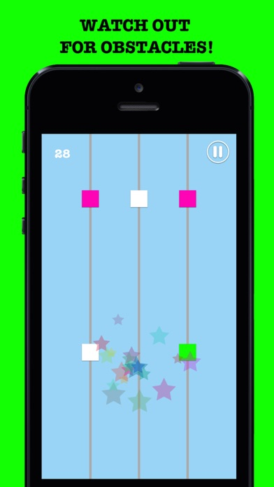 Color Crack Attack - #1 Best Endless Arcade Zig Zag Dodge Geometry Party Unlimited! screenshot two