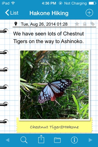 RainbowNote: notebook/diary with photo calendar screenshot 1