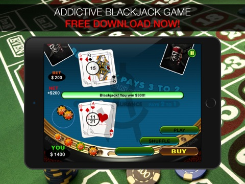 Aarghh! PIRATE BlackJack KING - Play the Atlantic City and Online Casino Card Game with Real Las Vegas Odds for Free !-ipad-2
