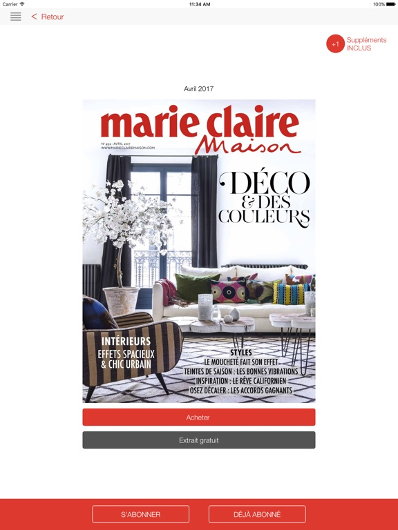marie claire maison dans l app store. Black Bedroom Furniture Sets. Home Design Ideas