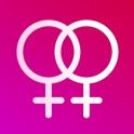 Lesbin Dating: Chat App to Meet Lesbian & Bi Women icon