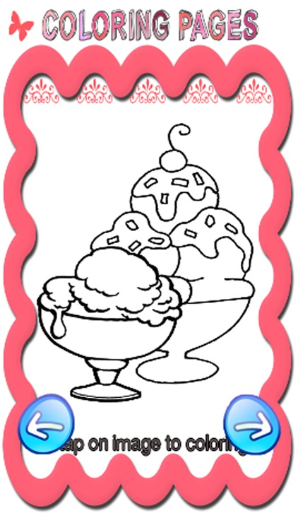 Free Coloring Book Game For Ice Cream Frozen