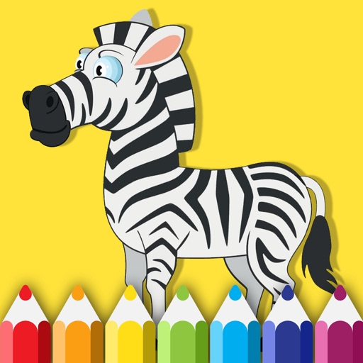 Coloring Book Game Zebra Free For Childrens iOS App