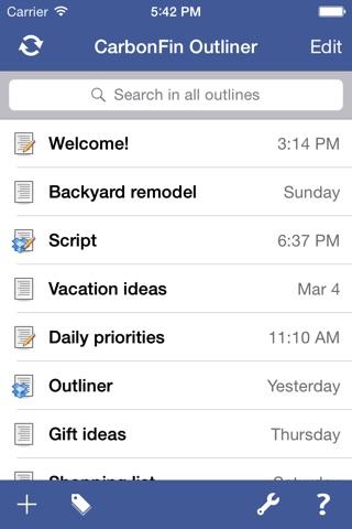 Outliner screenshot 2
