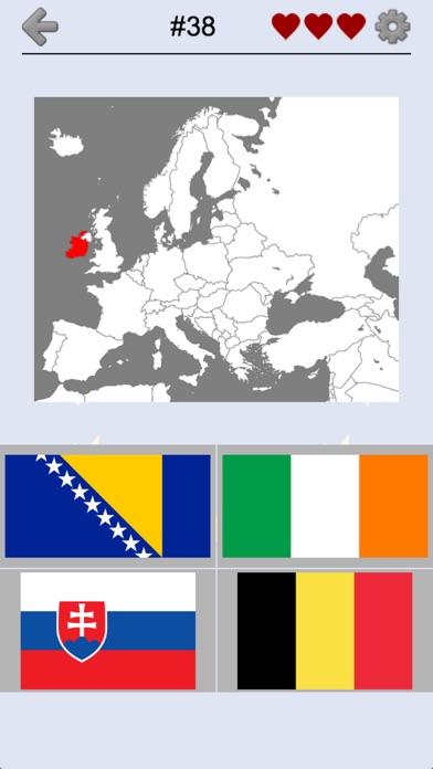 Europese landen - Karten-Quiz - App voor iPhone, iPad en iPod touch - AppWereld