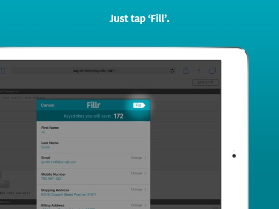 Fillr – Autofill for mobile Screenshot