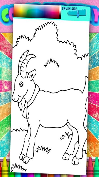 Mountain Goat Coloring Page Game Kids Education By Piyawan Chumnarnchanan
