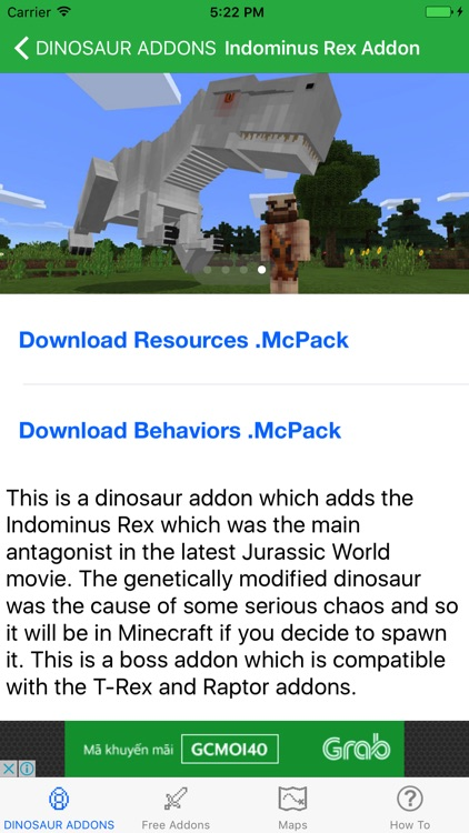 Dinosaur AddOns Maps For Minecraft Pocket Edition by Phan Lam