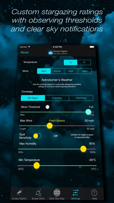 Scope Nights: Astronomy Weather Screenshot 5