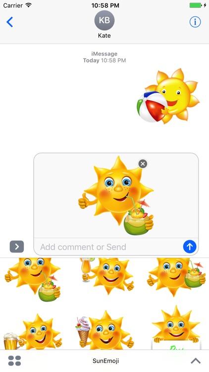 Sun Emoji by Thiet Duong