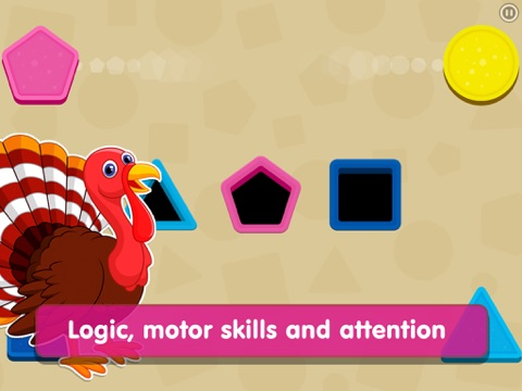 Shapes! Toddler Kids Games,Baby Boys Learning Free screenshot 2