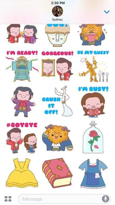 Disney Stickers Beauty And The Beast Pack 2