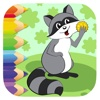 Racoon Coloring Page Games For Childrens Edition
