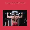 download Complete workout for wider and thicker back