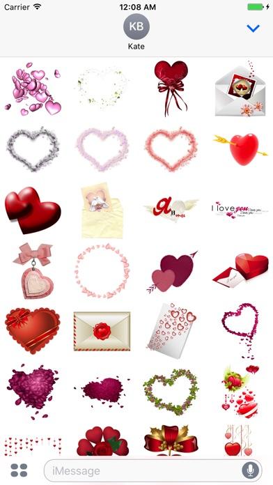 バレンタインステッカーのスクリーンショット3