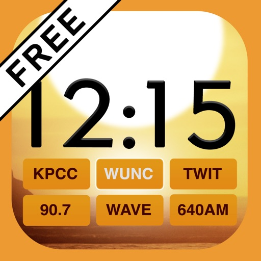 Beautiful Clock Radio Free for iPhone
