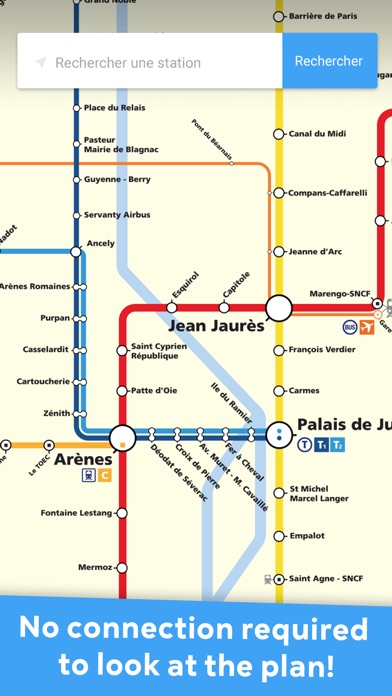 Metro Toulouse - TISSEO offline subway mapsСкриншоты 1