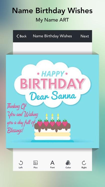 Name Birthday Wishes