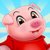 Ian Robertson - Three Little Pigs - fairy tale with games for kids artwork