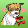 download Funny Terrier Dog Stickers