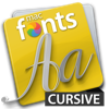 macFonts Cursive app for iPhone/iPad