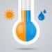 空気温湿度計 - 温度と湿度