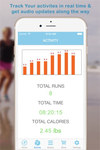 GPS Running Workout Tracking with Calorie Counting screenshot 3