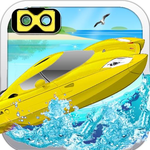 VR Water Boat Race : Real Sea Stunt Simulator 3D iOS App