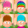 Child game / hair cut 9 types colors