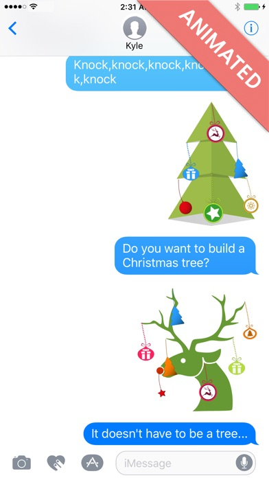 Xmas Deco:Animated Christmas Stickers for iMessage屏幕截图2