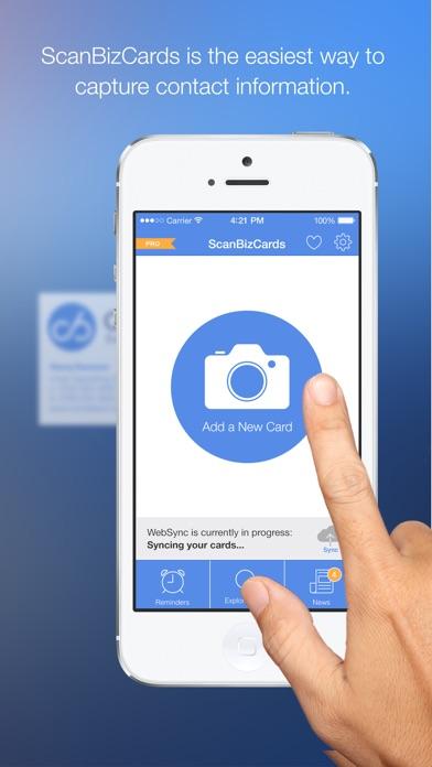 ScanBizCards Business Card Reader Screenshots
