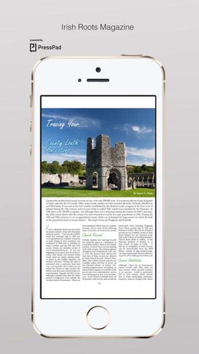 Irish Roots Magazine review screenshots