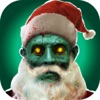 Zombie Santa Claus - Christmas Face Stickers