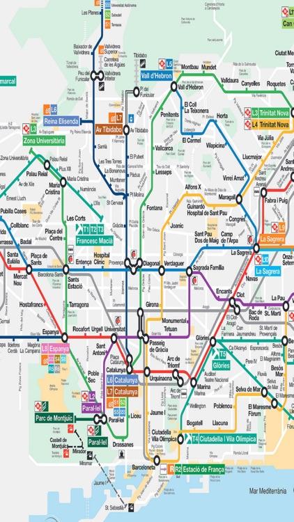 Barcelona Metro TMB Subway Train Rail Buses Maps by Janice Ong