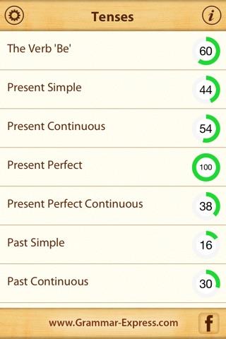 Grammar Express: Tenses screenshot 2
