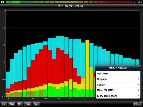 PocketRTA HD - Spectrum Analyzer screenshot 4