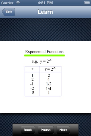 Algebra 1 - Exponents screenshot 2