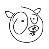 Pig sticker funny weird face stickers for iMessage Wiki
