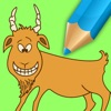 Goats Coloring Book Games For Kids Edition