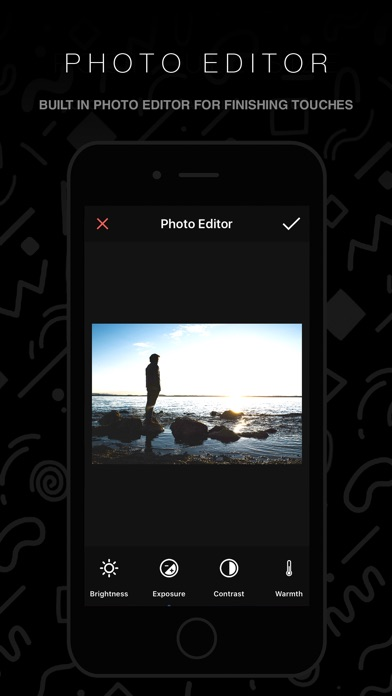 Screenshots of InstaFit 2 - Post Photos Without Cropping for iPhone