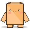 Torro the cardboard box robot for iMessage Sticker