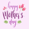 Watercolor Happy Mothers Day Stickers