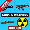 GUNS AND WEAPONS MCPE ADD-ON For Minecraft PE
