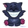 Emoji Cartoon Black Cat Stickers