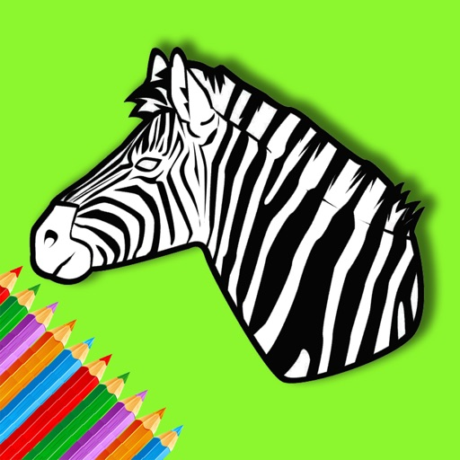 Zebra Coloring Book For Kids Education iOS App