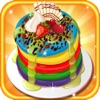 彩虹煎饼蛋糕免费烹饪游戏的女孩
