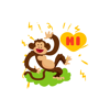 Mad Monkey stickers by NestedApps Stickers Wiki