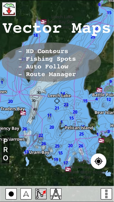 Minnesota Fishing Lake Maps Amp Navigation Charts App