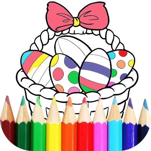 Pascua Para Colorear - Pintar Huevos Y Conejitos Por Vladimir Marjanovic